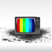 Retro TV background — Stock Vector