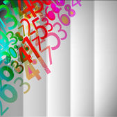 Abstract Colorful Background with numbers — Stock Vector