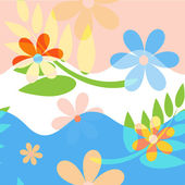 Fondo de color floral abstracto — Vector de stock