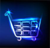 Alışveriş sepeti işareti — Stok Vektör