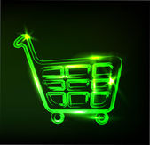 Shopping cart sign — Vector de stock