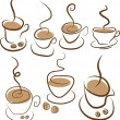 Set coffee symbols — Stock Vector