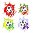 Stock Vector: Abstract football creative design