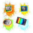 Retro tv set. — Stock Vector #31269863