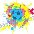 Stock Vector: Soccer design element