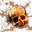 Skull grunge background — Vector de stock