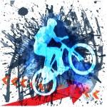 Biker,BMX cyclist — Stock Vector