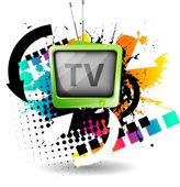 Tv Rainbow. — Stock Vector
