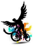 Biker with wings — Stock Vector