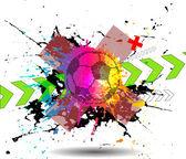 Football banner — Stockvector