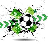 Hedendaagse kunst. Voetbal achtergrond — Stockvector