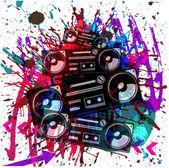 Tło muzyczne tło z magnetofonu — Wektor stockowy