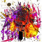 Microfoon achtergrond — Stockvector