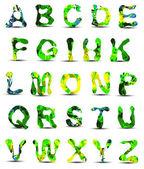 Alfabet ontwerp kleurrijke — Stockvector
