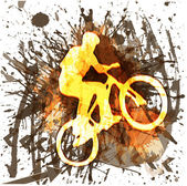 Silueta de ciclismo — Vector de stock