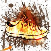 şık spor ayakkabı. — Stok Vektör