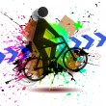Dirty bike — Stock Vector