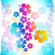 Hawaiian Flower Background — Stock Vector