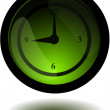Glossy Clock Button — Stockvektor