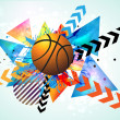 Basketball poster. — Stock Vector
