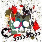 Skull grunge background — Stock Vector