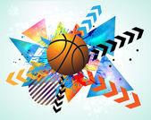 Basketball poster. — Vettoriale Stock