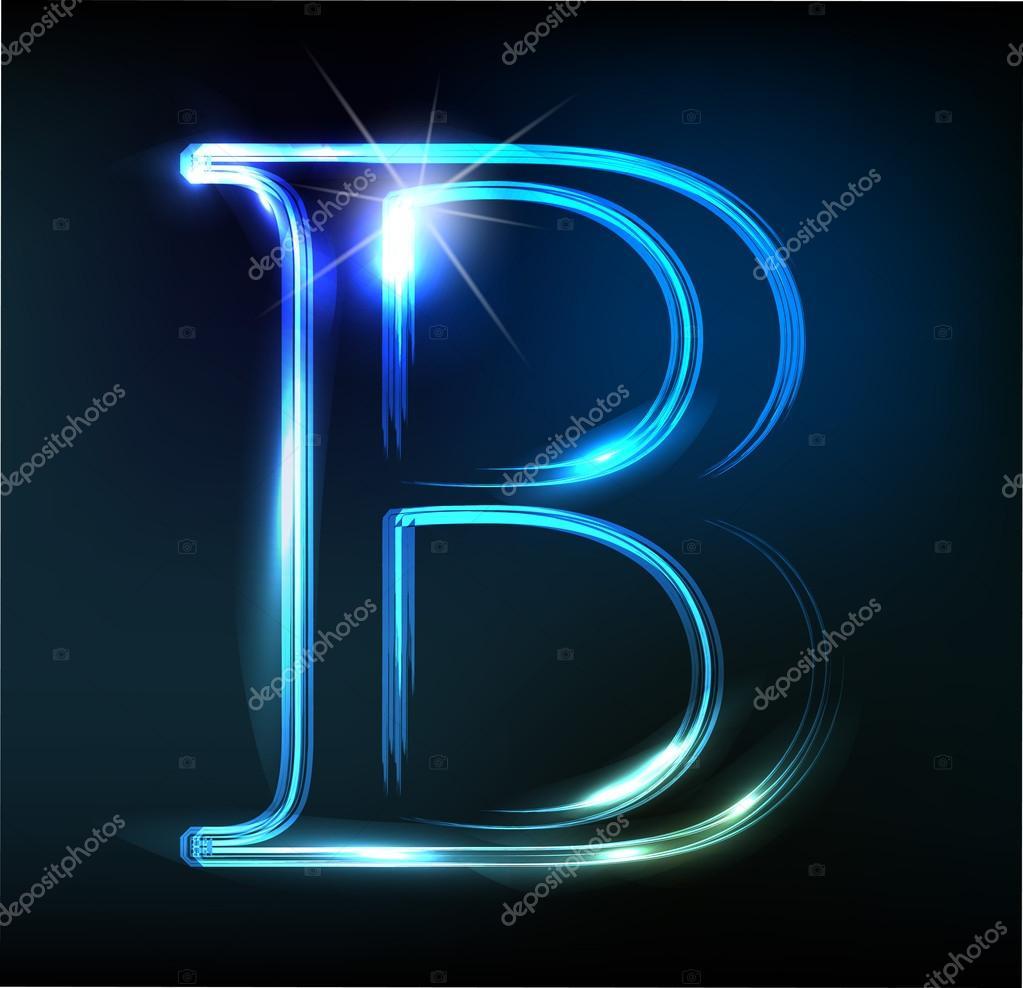 pomy lna neon czcionki b yszcz cy litera b grafika. Black Bedroom Furniture Sets. Home Design Ideas