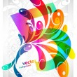 Stock Vector: Rainbow swirly background