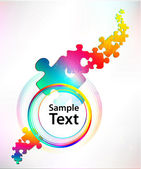 Colorful puzzle banner — Vector de stock