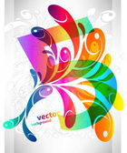 Rainbow swirly background — Stock Vector