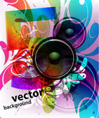 Vector colorful music background illustration — Stock Vector