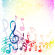 Stock Vector: colorful music background