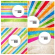 Colored arrows abstract vector background. — Stock Vector