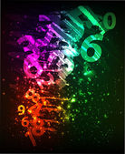 Abstract background with colorful numbers — Stock Vector