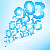 Number of background — Stock Vector
