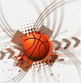 Bannière de conception pour le sport de basket-ball — Vecteur
