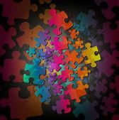 Pozadí abstraktní puzzle — Stock vektor