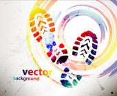 Shoe prints — Stock Vector