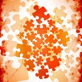 Forma abstracta grunge puzzle — Vector de stock