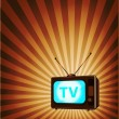 Stock Vector: retro tv background