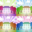 Vector Illustration of house — Stock Vector