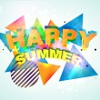 Stock Vector: Funky Happy Summer