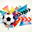 Vector football background — Image vectorielle