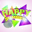 Funky Happy Summer — Stock Vector