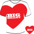 Big heart T-shirt design template.  — Stock Vector