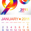 Calendar for January 2011. — Stock Vector