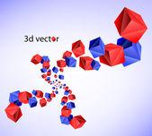 3d abstrakt — Stockvektor