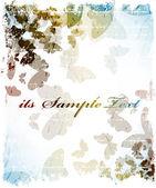 背景与蝴蝶 — 图库矢量图片