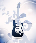Illustration on a musical theme with electric guitar — Vecteur