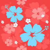 Seamless Hibiscus flower Background — Stock Vector